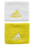 Adidas Tennis Small Wristband- White/Vivid Yellow