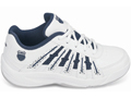 K-Swiss Boys Optim II Carpet Tennis Shoes White/Navy (Size 3-5.5)