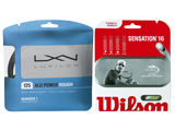 String Upgrade Luxilon Alu Power Rough 125 / Wilson Sensation 16  Tennis Strings