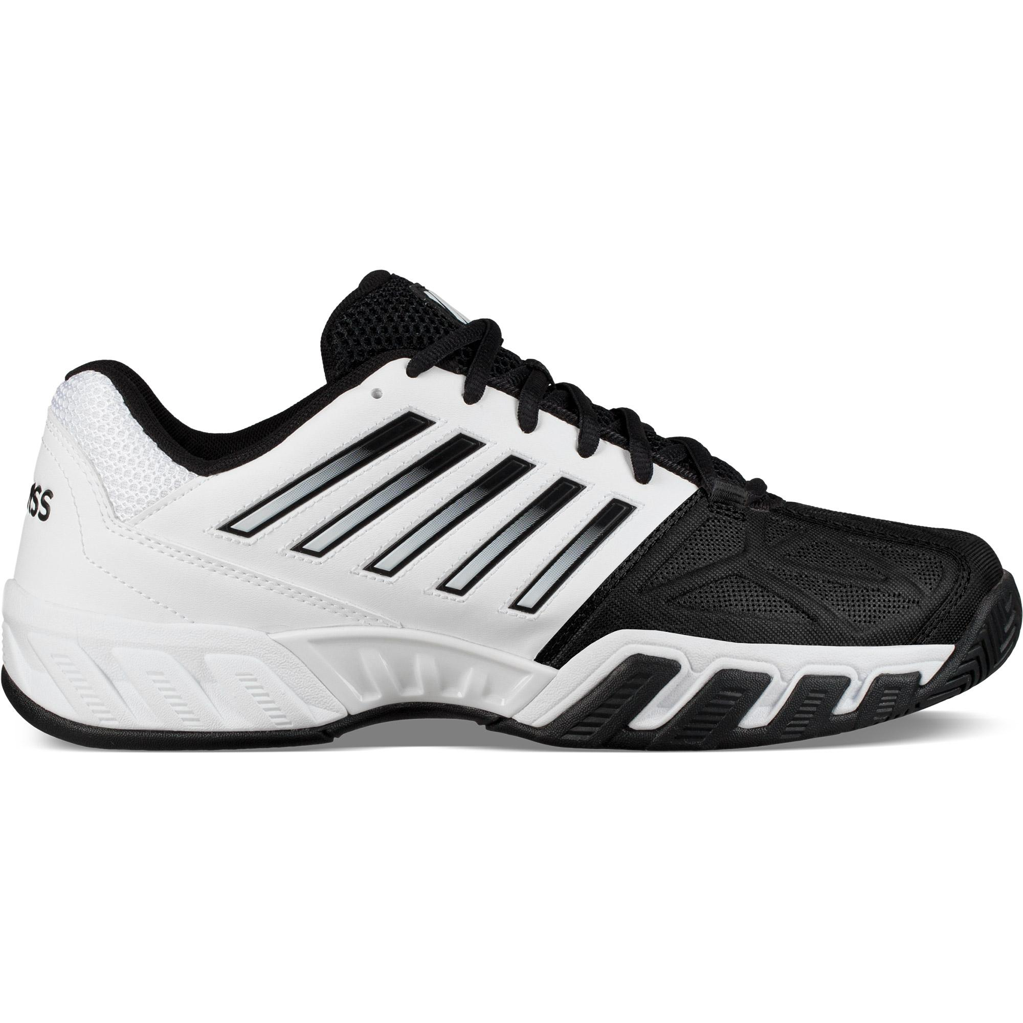 6255bfc7183e K-Swiss Mens BigShot Light 3 Tennis Shoes - White Black - Tennisnuts.com