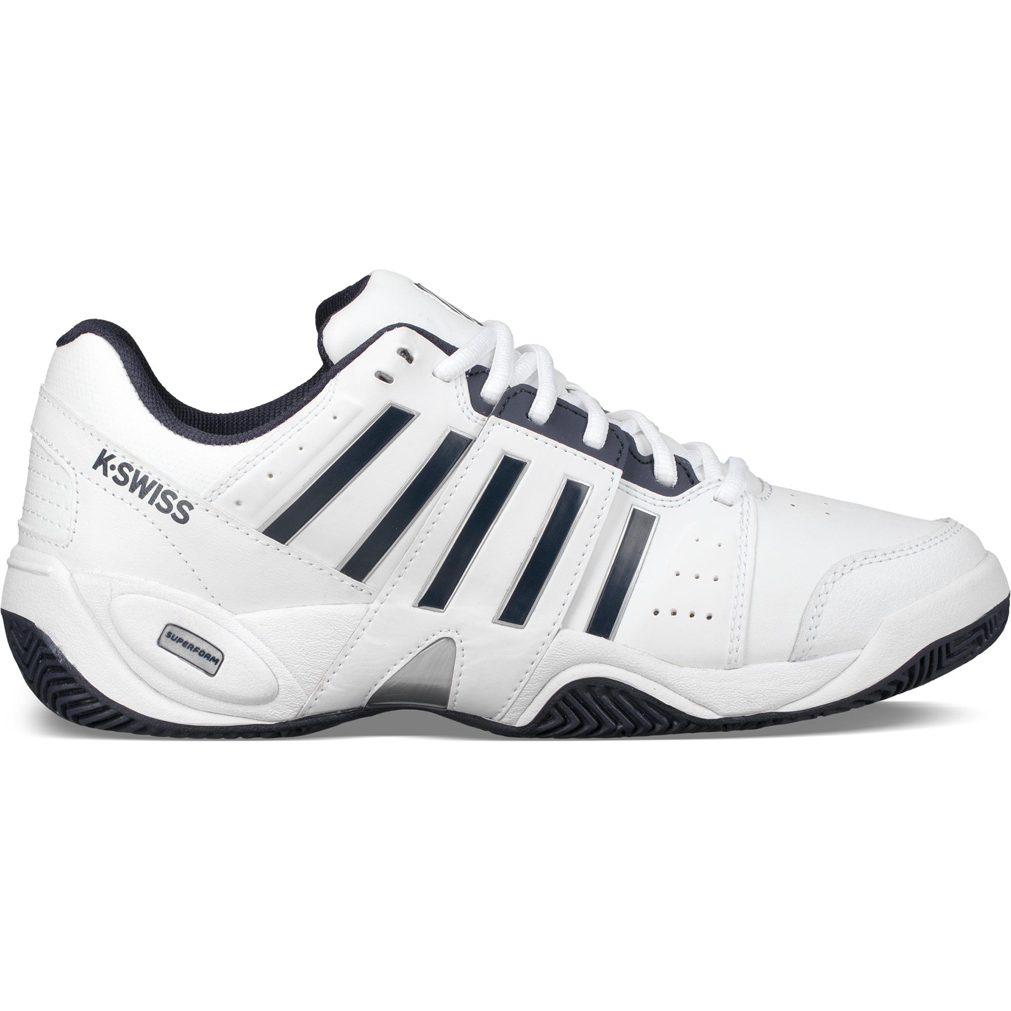 K-Swiss Mens Accomplish III Tennis Shoes - White Navy - Tennisnuts.com b2952d43db54
