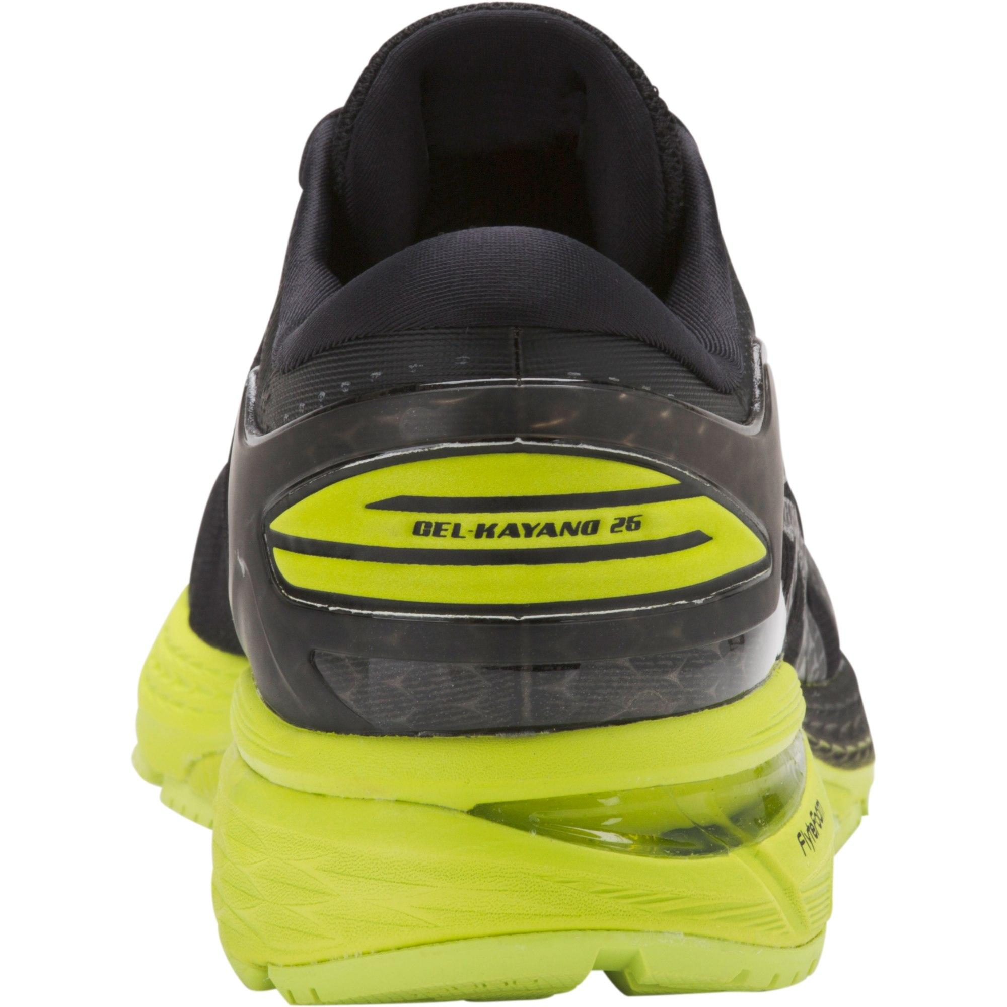39c97bfd9aff Asics Mens GEL-Kayano 25 Running Shoes - Black Neon Lime ...