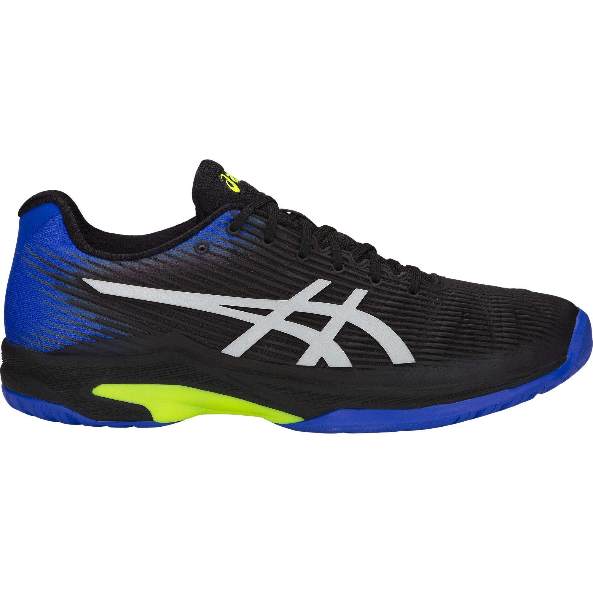 Asics Mens Solution Speed FF Tennis Shoes , Black/Illusion Blue