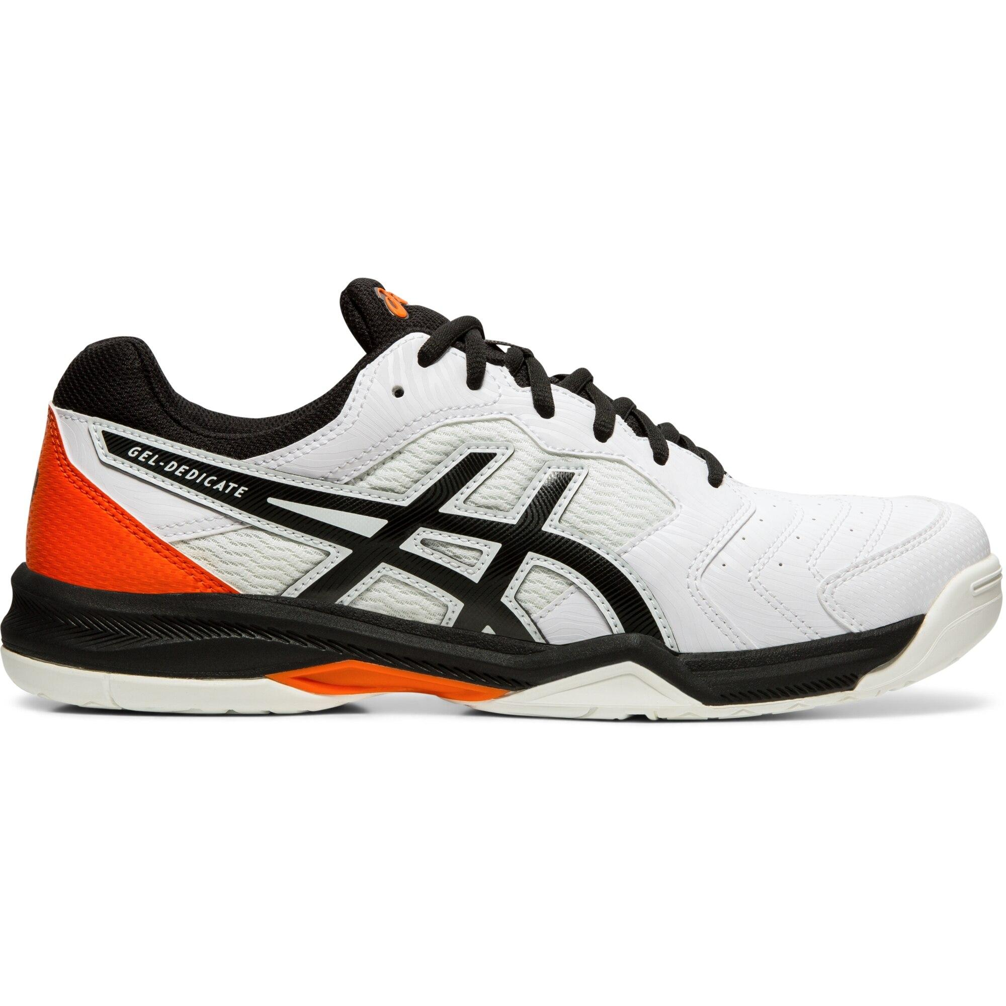 063db5880b13 Asics Mens GEL-Dedicate 6 Tennis Shoes - White/Black - Tennisnuts.com