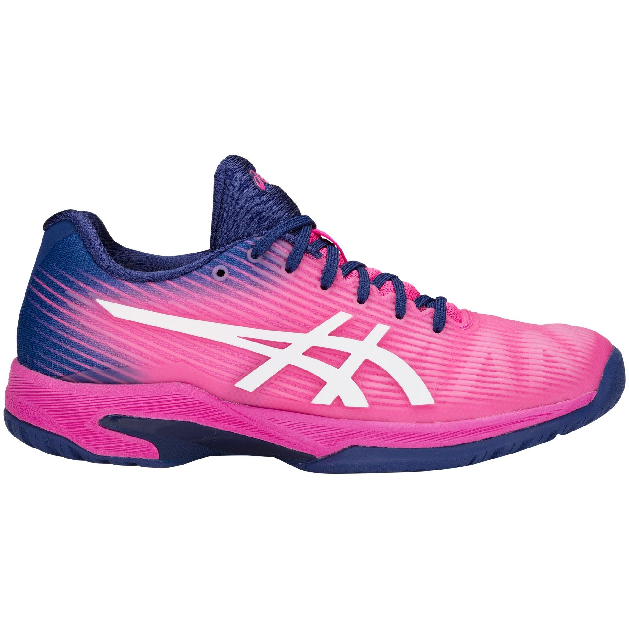 30e99669cc5 Asics Womens Solution Speed FF Tennis Shoes - Pink Glow/White