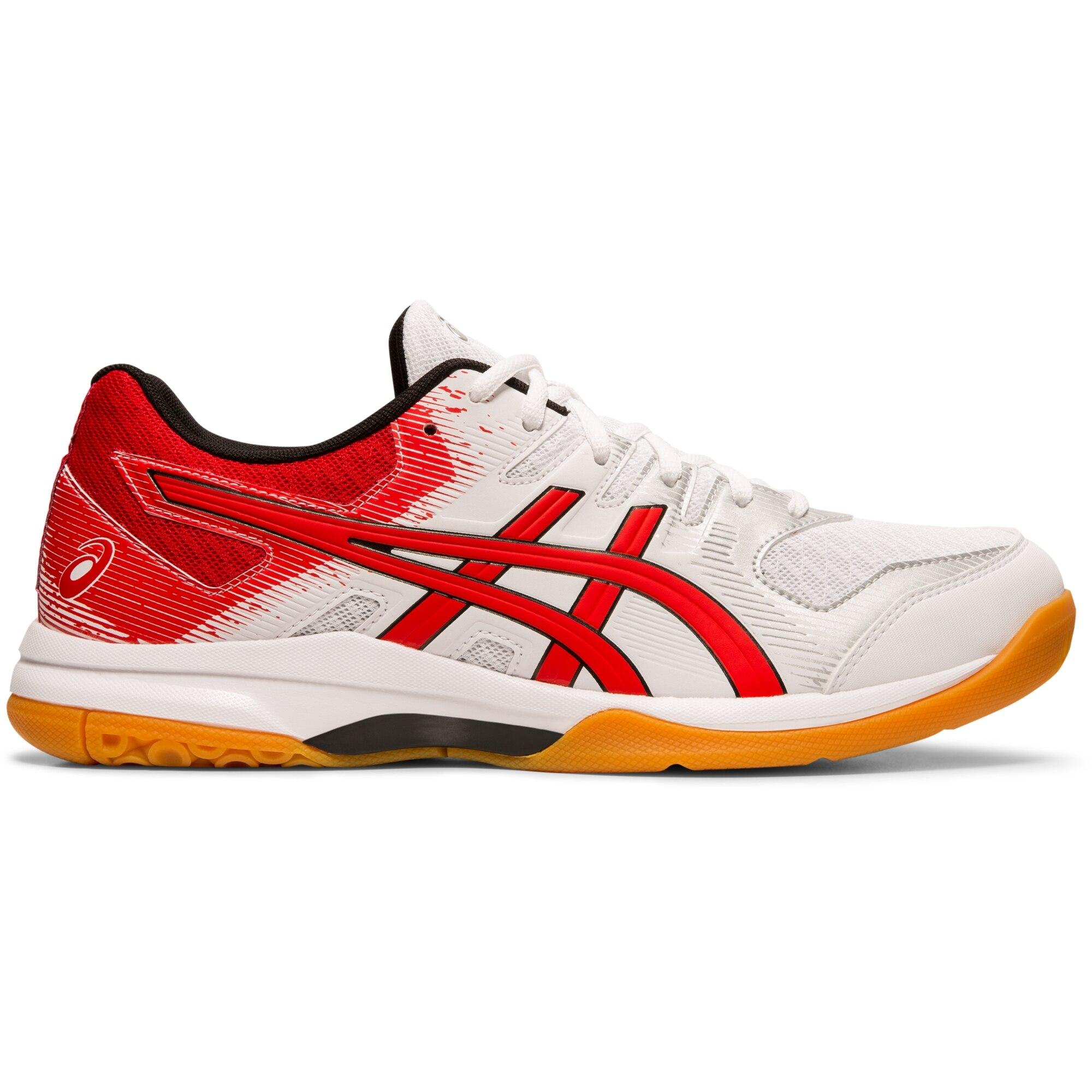ottaa kiinni iso alennus parhaat lenkkarit Asics Mens GEL-Rocket 9 Indoor Court Shoes - White/Classic Red