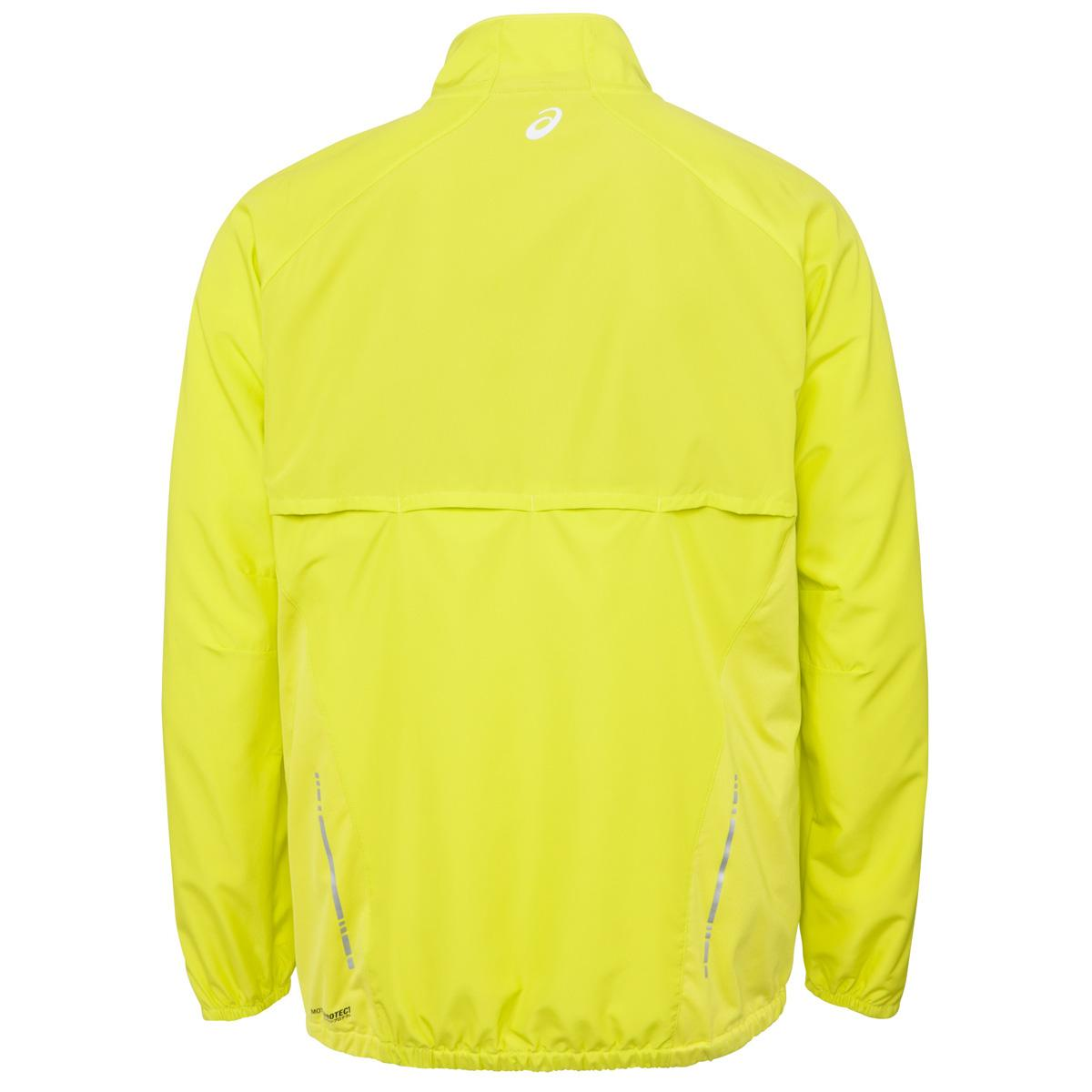 asics running jacket mens Orange