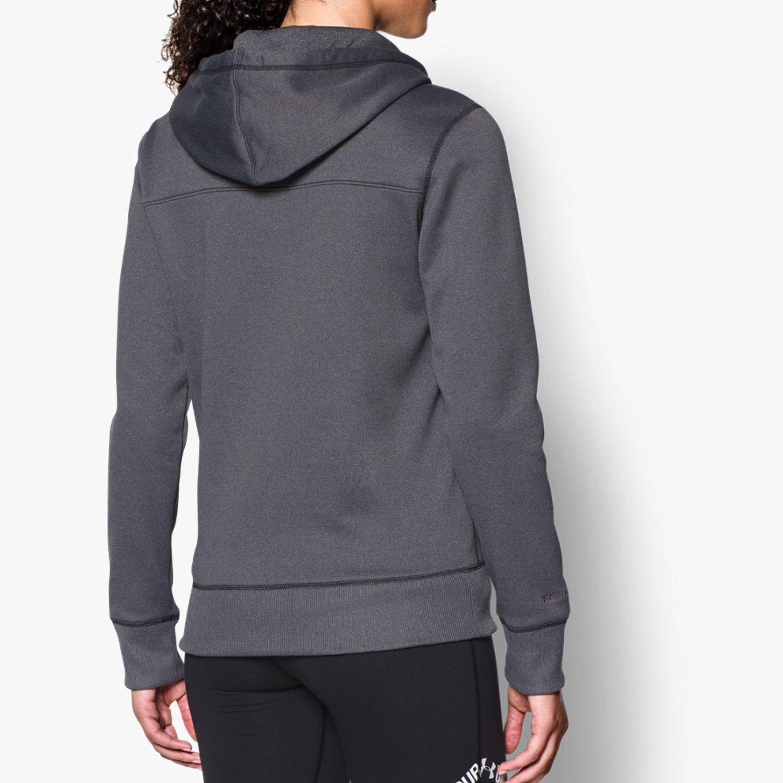 152aa519e Under Armour Womens UA Armour Fleece Full Zip Hoodie - Dark Grey ...