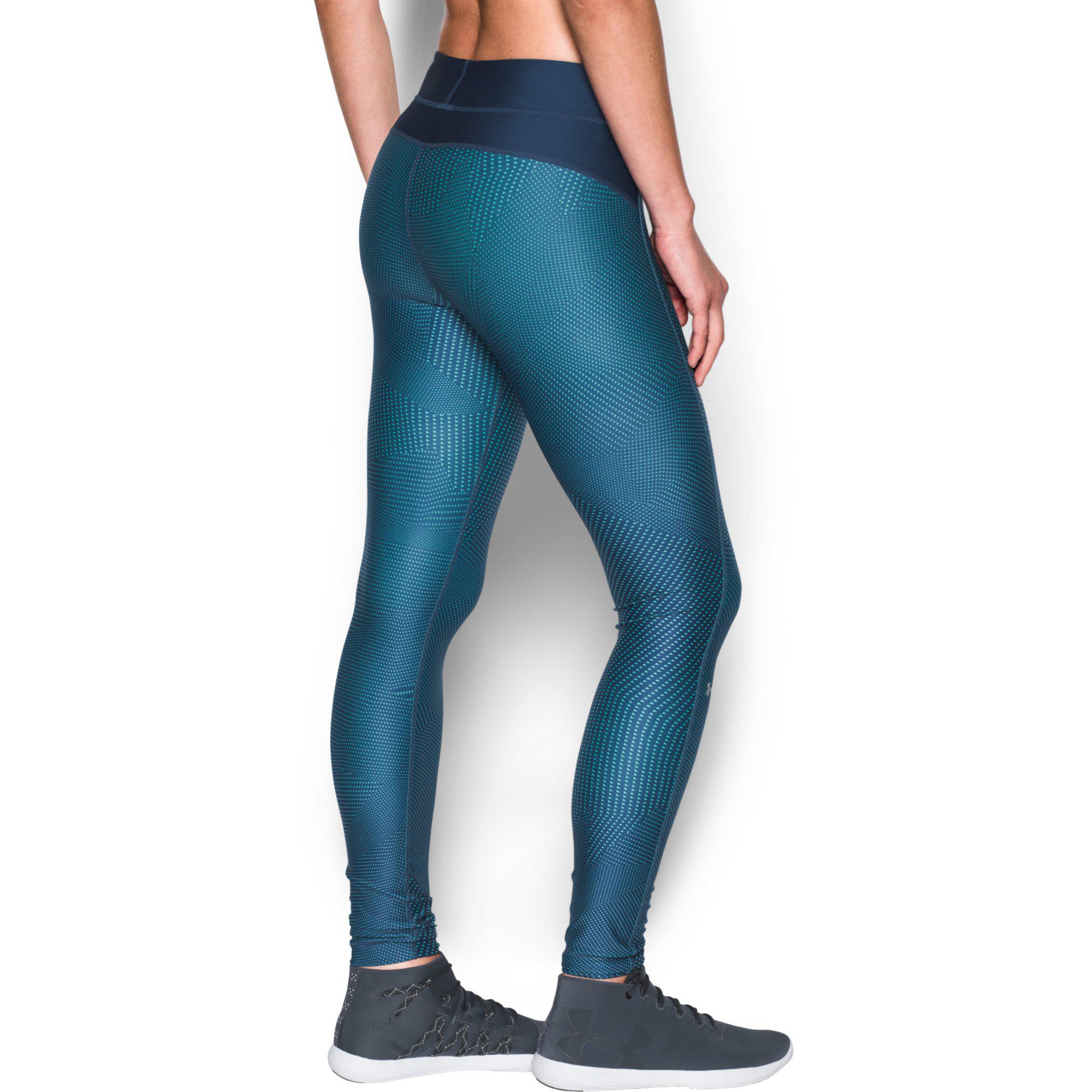 under armour womens heatgear printed leggings blackout