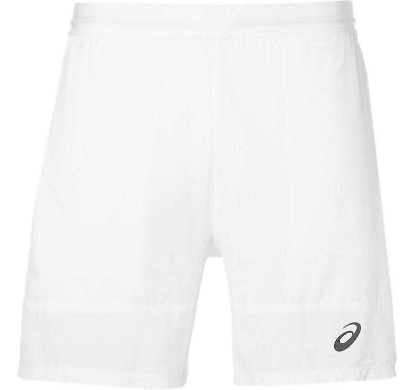specjalne do butów największa zniżka klasyczne style Asics Mens Athlete 7 Inch Tennis Shorts - Real White