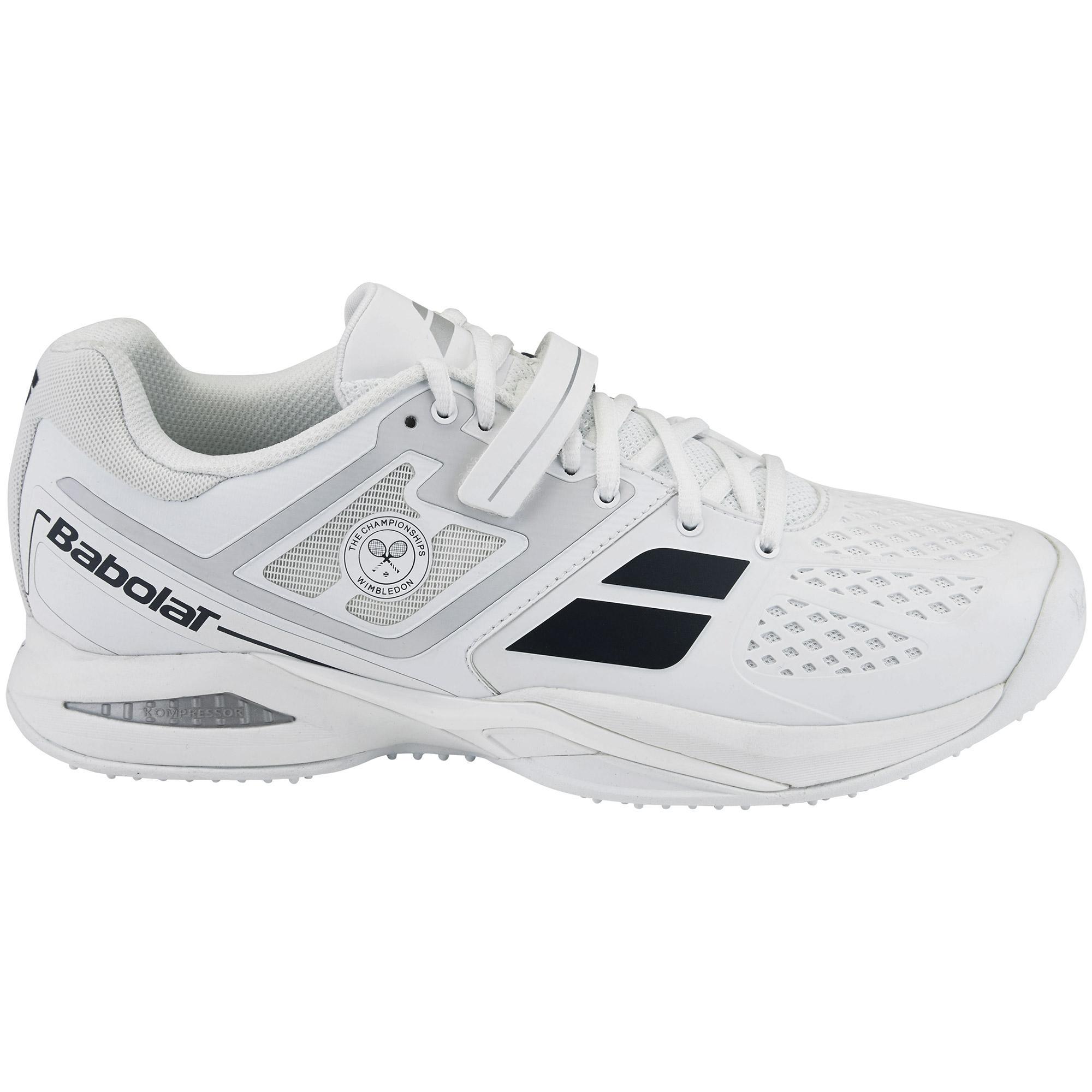 Babolat Propulse Wimbledon Grass Court Tennis Shoes - White - Tennisnuts.com 1a4e2c56575