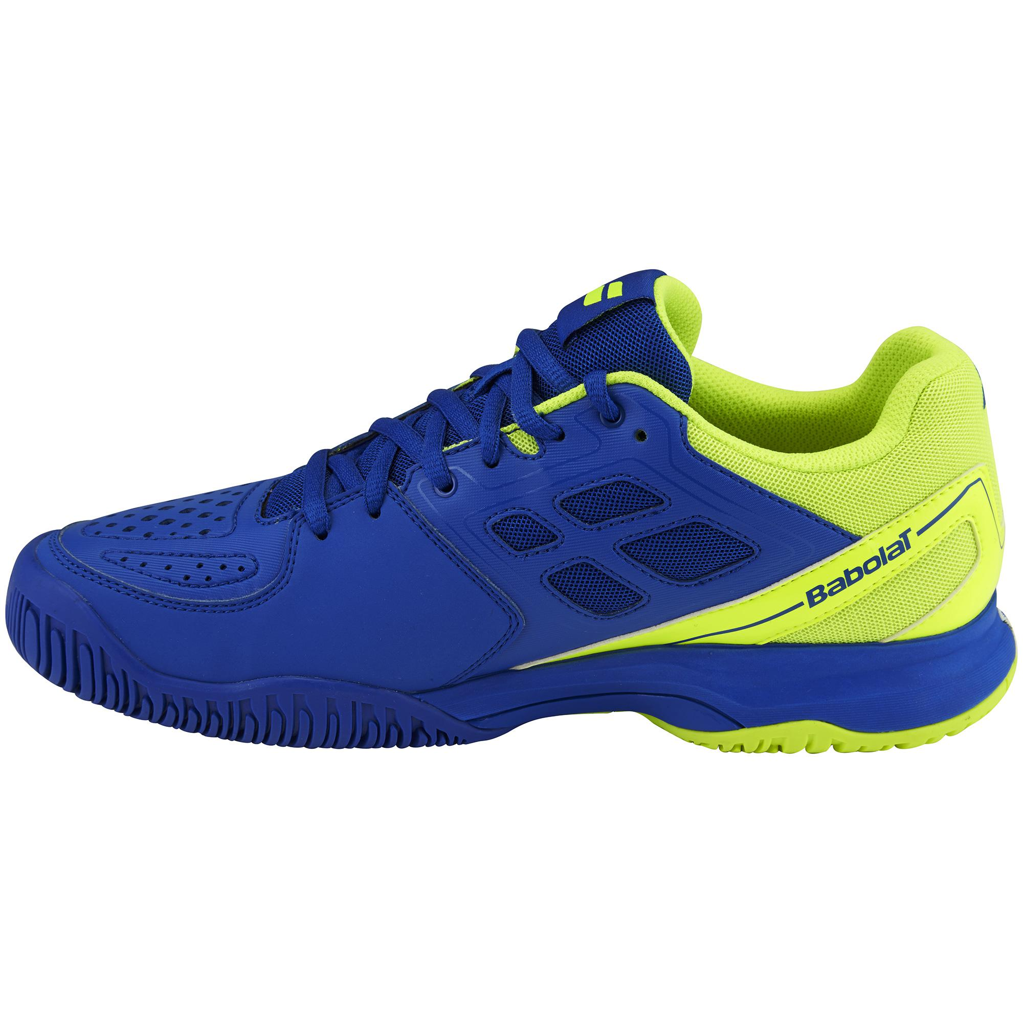 babolat mens pulsion all court tennis shoes blue yellow