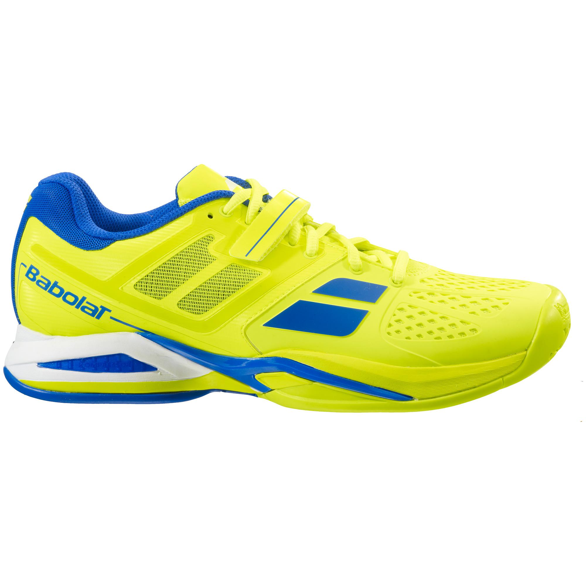 Babolat Tennis Shoes >> Babolat Mens Propulse All Court Tennis Shoes - Yellow/Blue - Tennisnuts.com