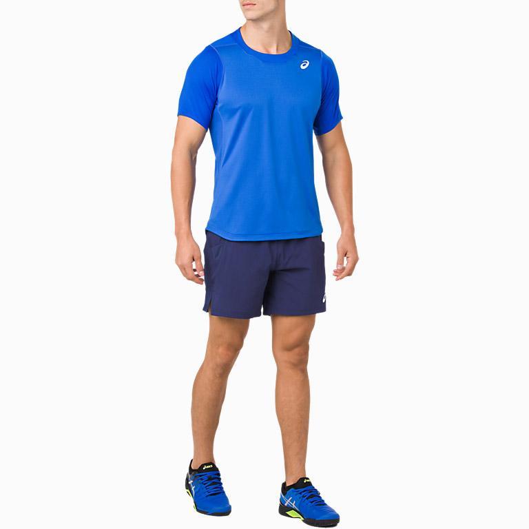 da0fa10d99 Asics Mens Tennis 7 Inch Shorts - Indigo Blue
