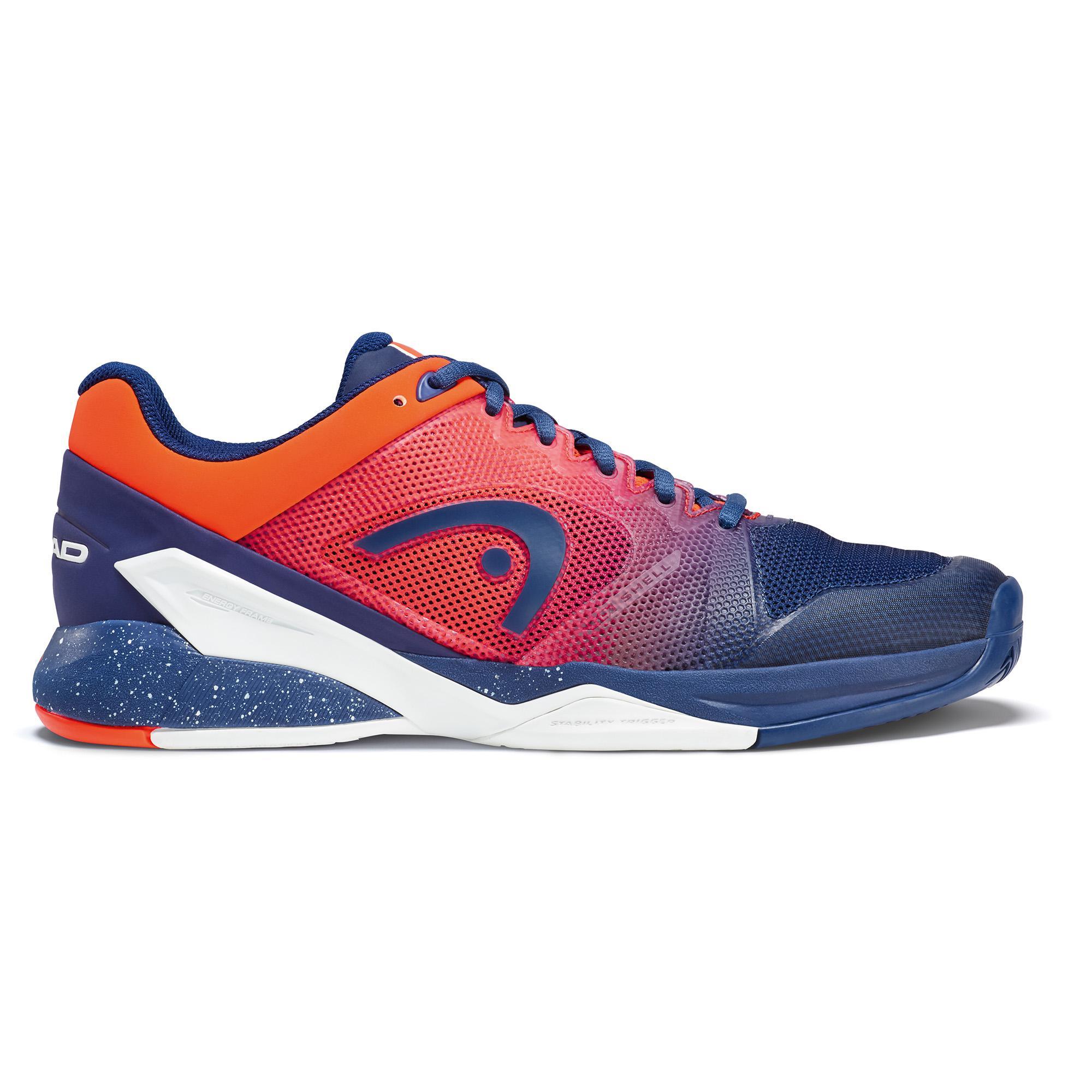1bdc311e2 Head Mens Revolt Pro 2.5 Tennis Shoes - Blue Flame Orange - Tennisnuts.com