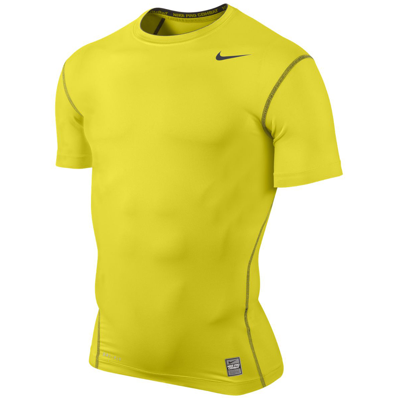 561275ac Nike Pro Core Short Sleeve Tight Crew - ElectroLime/Anthracite -  Tennisnuts.com