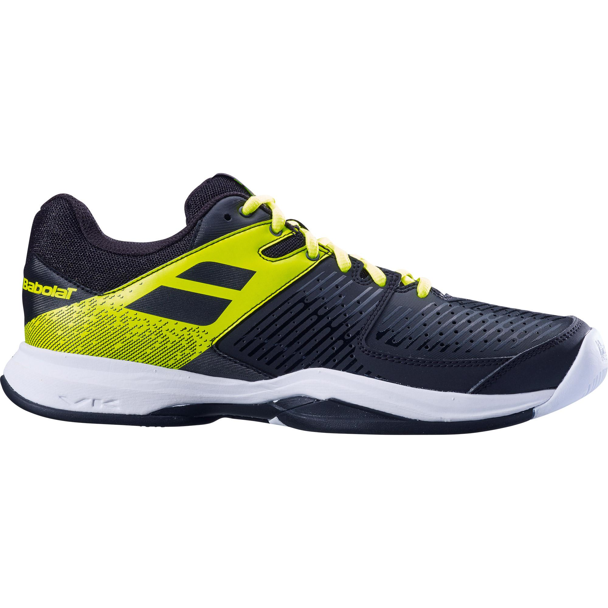 Babolat Tennis Shoes >> Babolat Mens Pulsion Tennis Shoes Black Fluo Aero