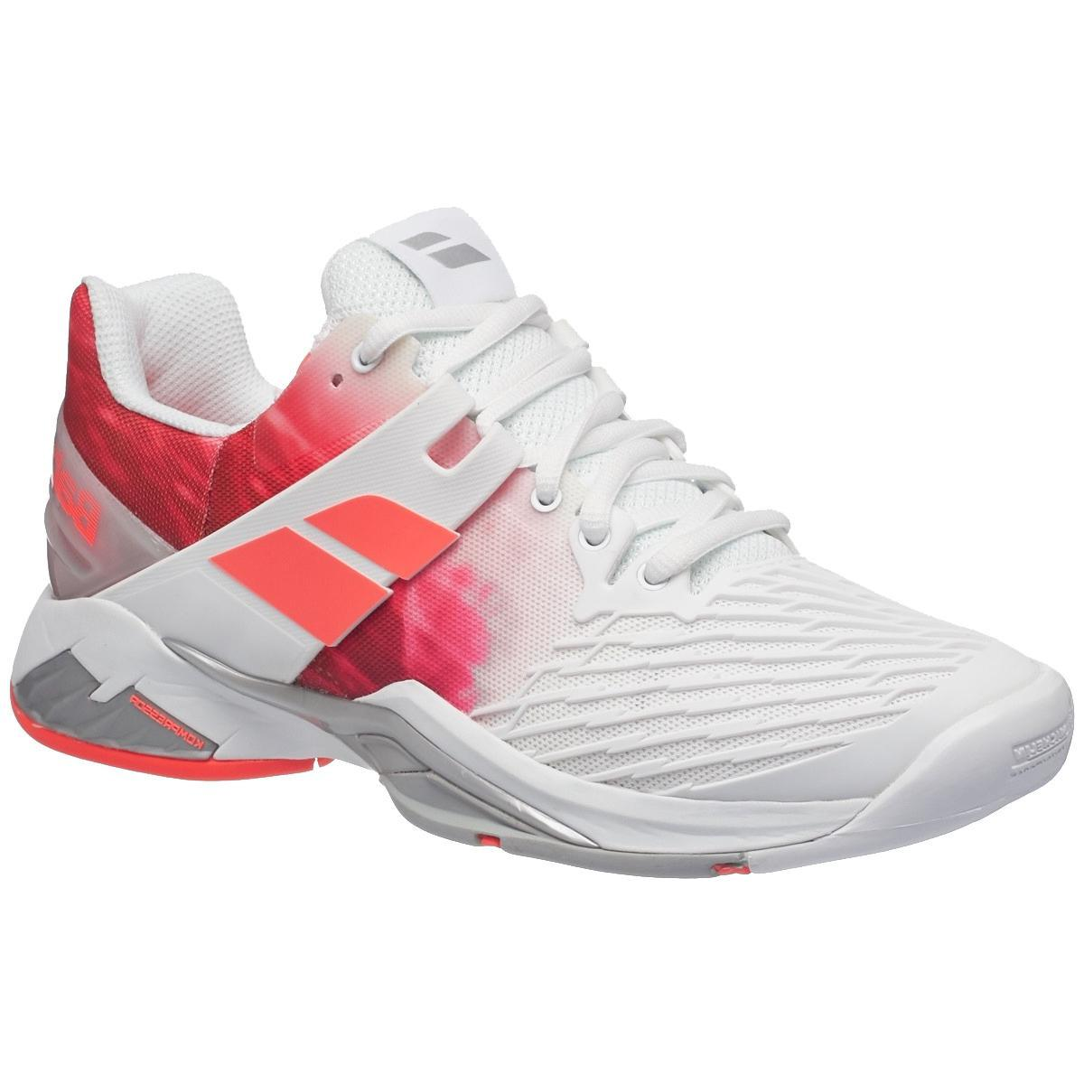 afbfd41af29 Babolat Womens Propulse Fury Tennis Shoes - White Pink - Tennisnuts.com