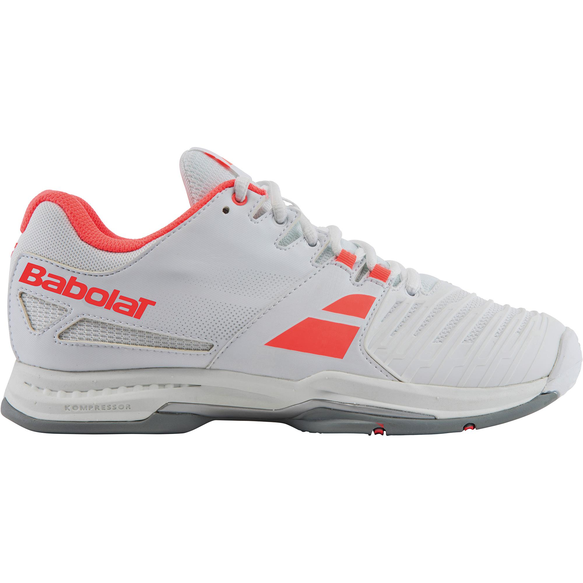 babolat womens sfx tennis shoes white coral tennisnuts