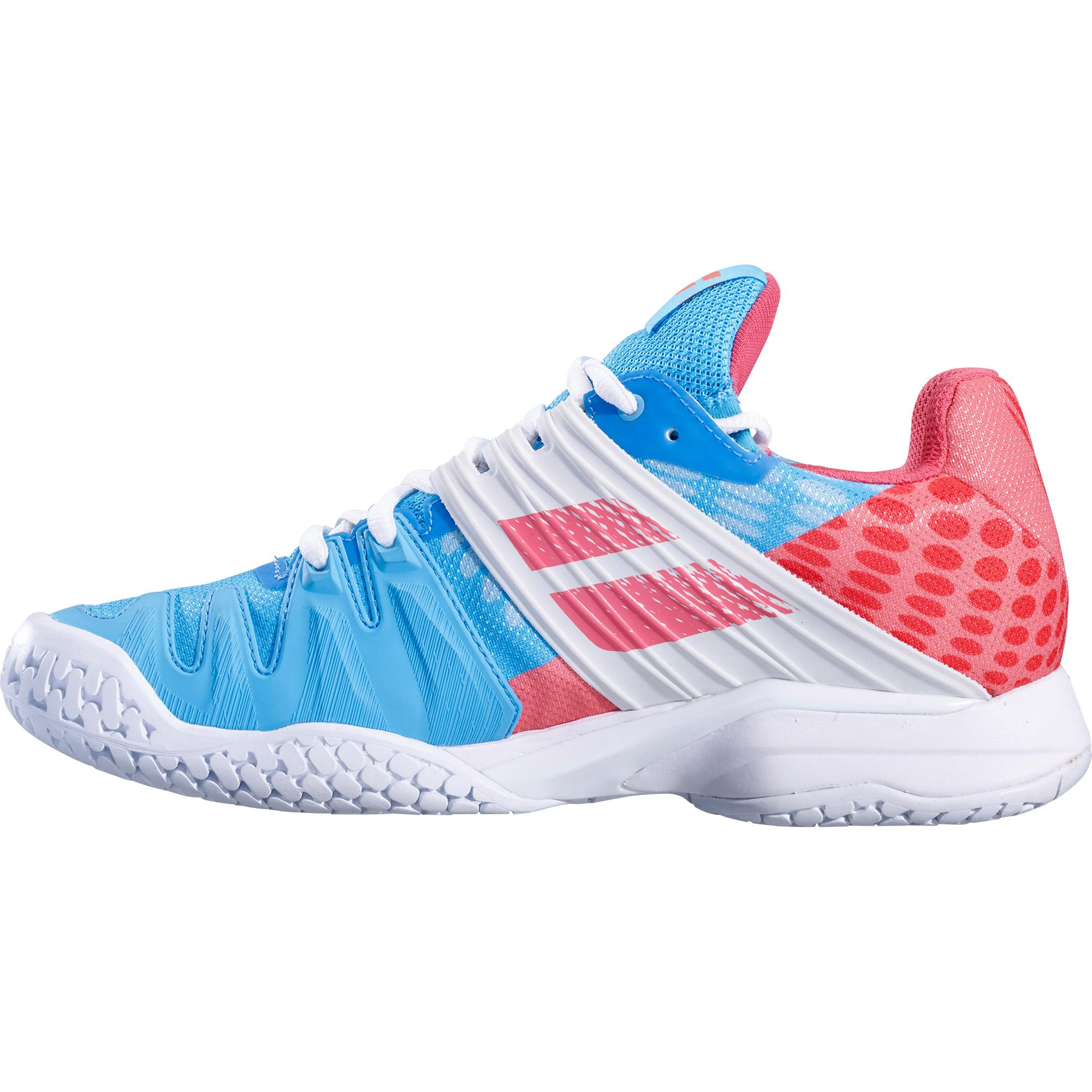 d528a8b7d257 Babolat Womens Propulse Fury Tennis Shoes - Sky Blue Pink ...