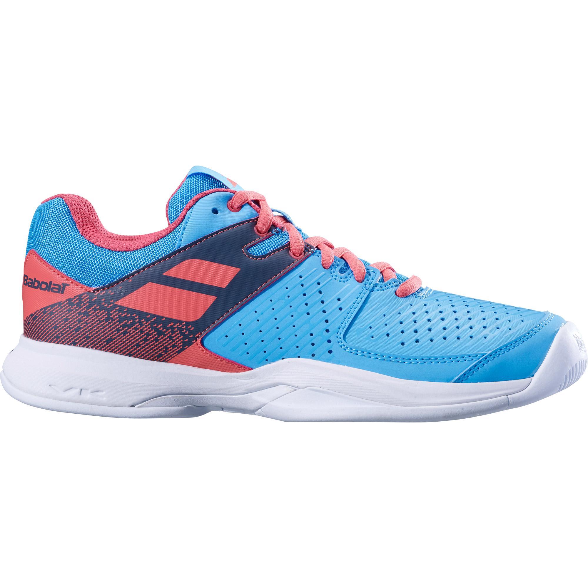 57039cca9963 Babolat Womens Pulsion Tennis Shoes - Sky Blue Pink - Tennisnuts.com