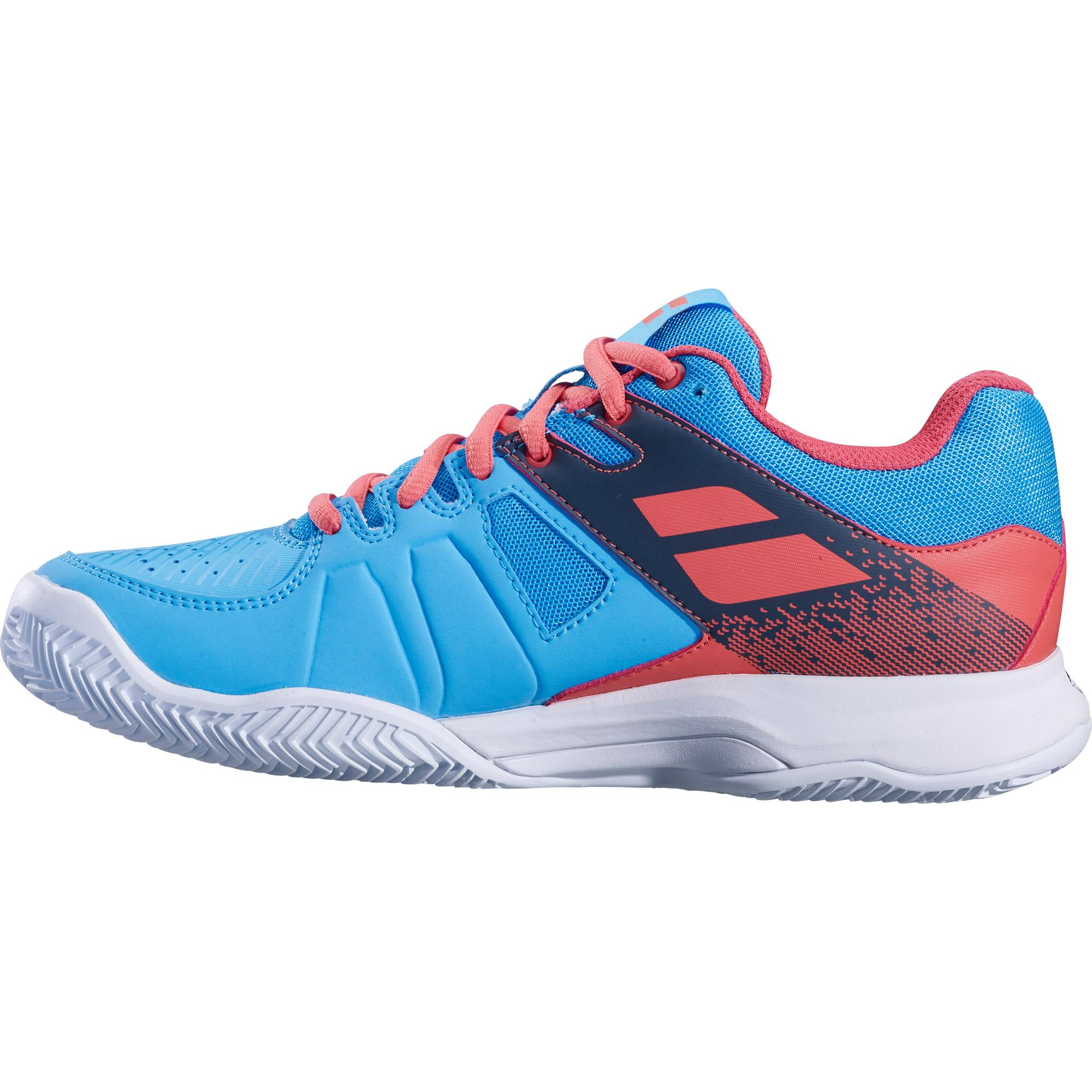 c9897cfeefbc Babolat Womens Pulsion Clay Court Tennis Shoes - Sky Blue Pink ...