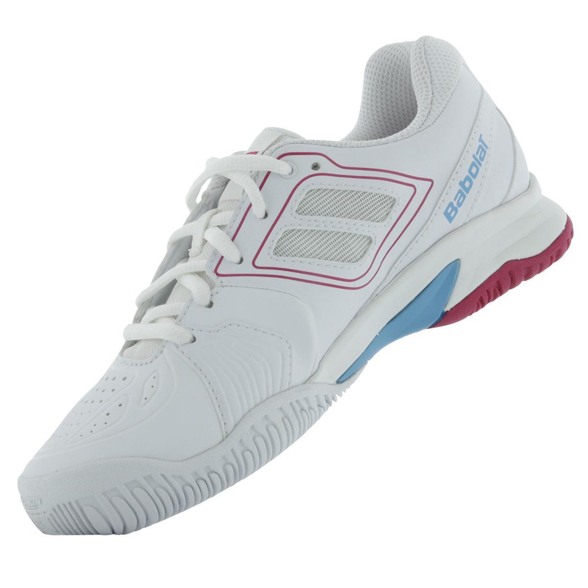 a898a6280db04 Babolat Girls Propulse Team BPM Junior Tennis Shoes - White/Pink
