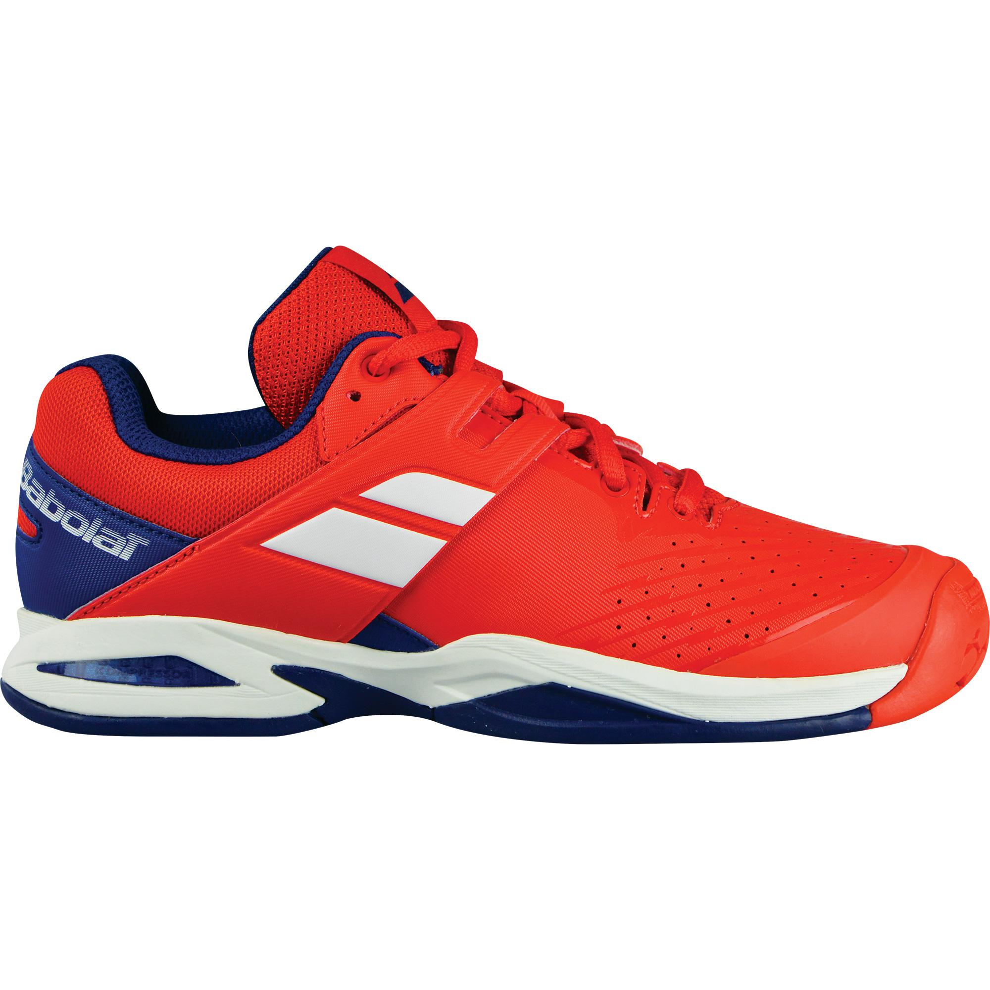 be498b00486 Babolat Kids Propulse Tennis Shoes - Bright Red Estate Blue