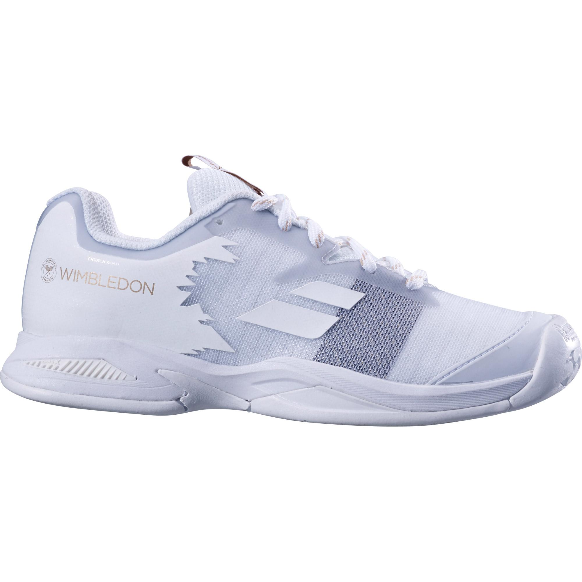 d006b856 Babolat Kids Jet Wimbledon Tennis Shoes - White