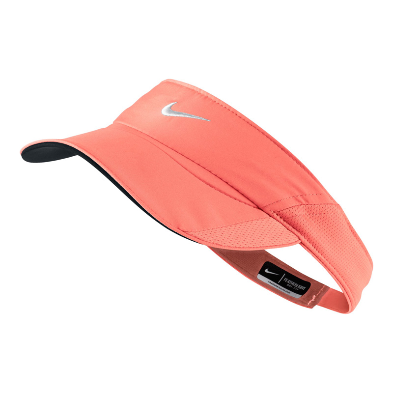 950308c8bc0c0 Nike Feather Light Visor - Action Pink White - Tennisnuts.com