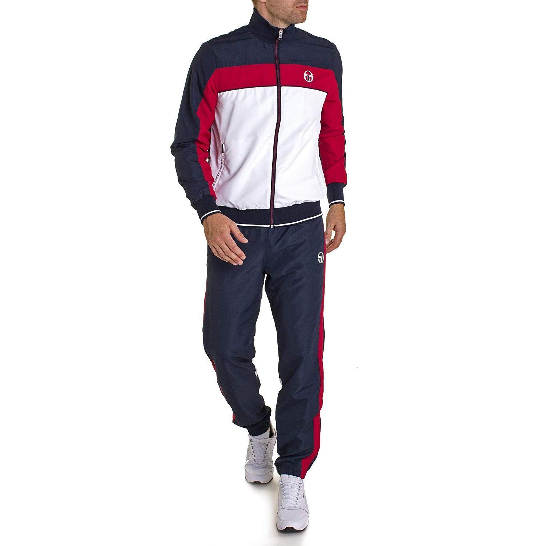 033189c74b Sergio Tacchini Mens Ilan Tracksuit - Navy/White/Apple Red - Tennisnuts.com