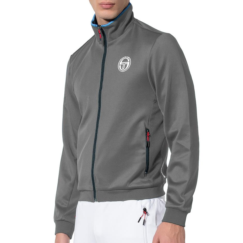 8cb2b94bf Sergio Tacchini Mens Ionas Monte-Carlo Jacket - Dark Grey Mel -  Tennisnuts.com