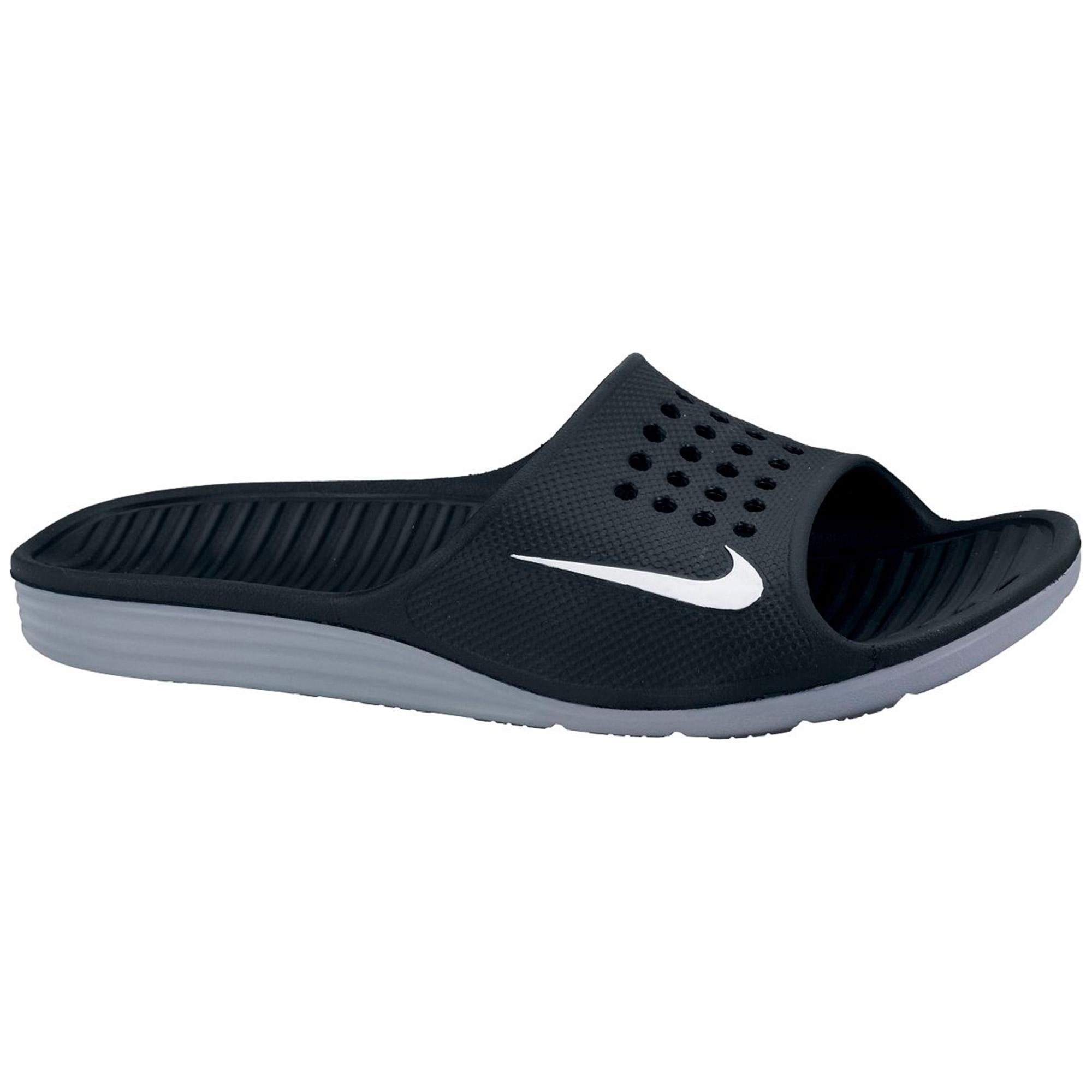 19d181f99117 Nike Solarsoft Flip Flops - Black - Tennisnuts.com