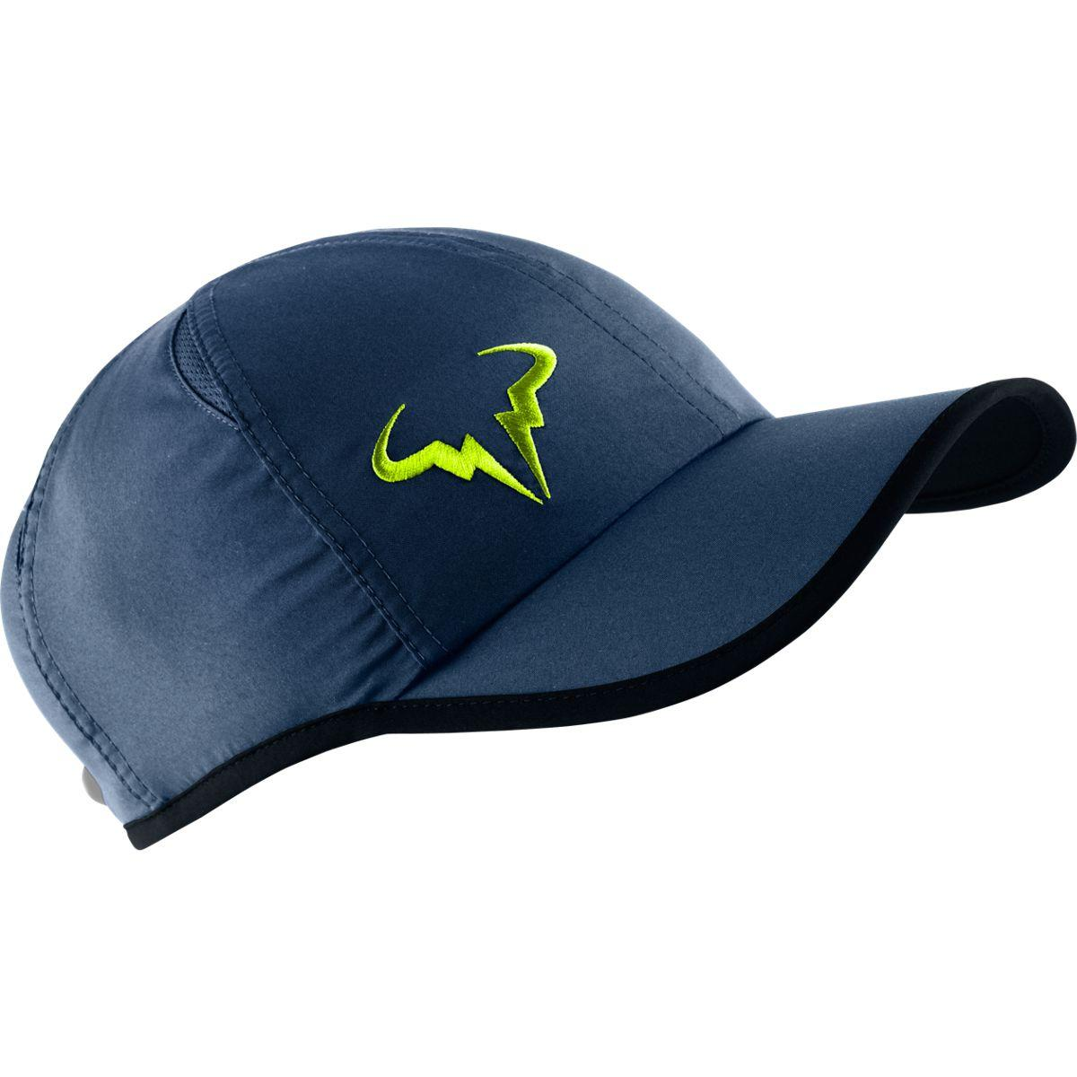 Nike Rafa Bull Logo Cap - Navy Lime - Tennisnuts.com e9c75108806