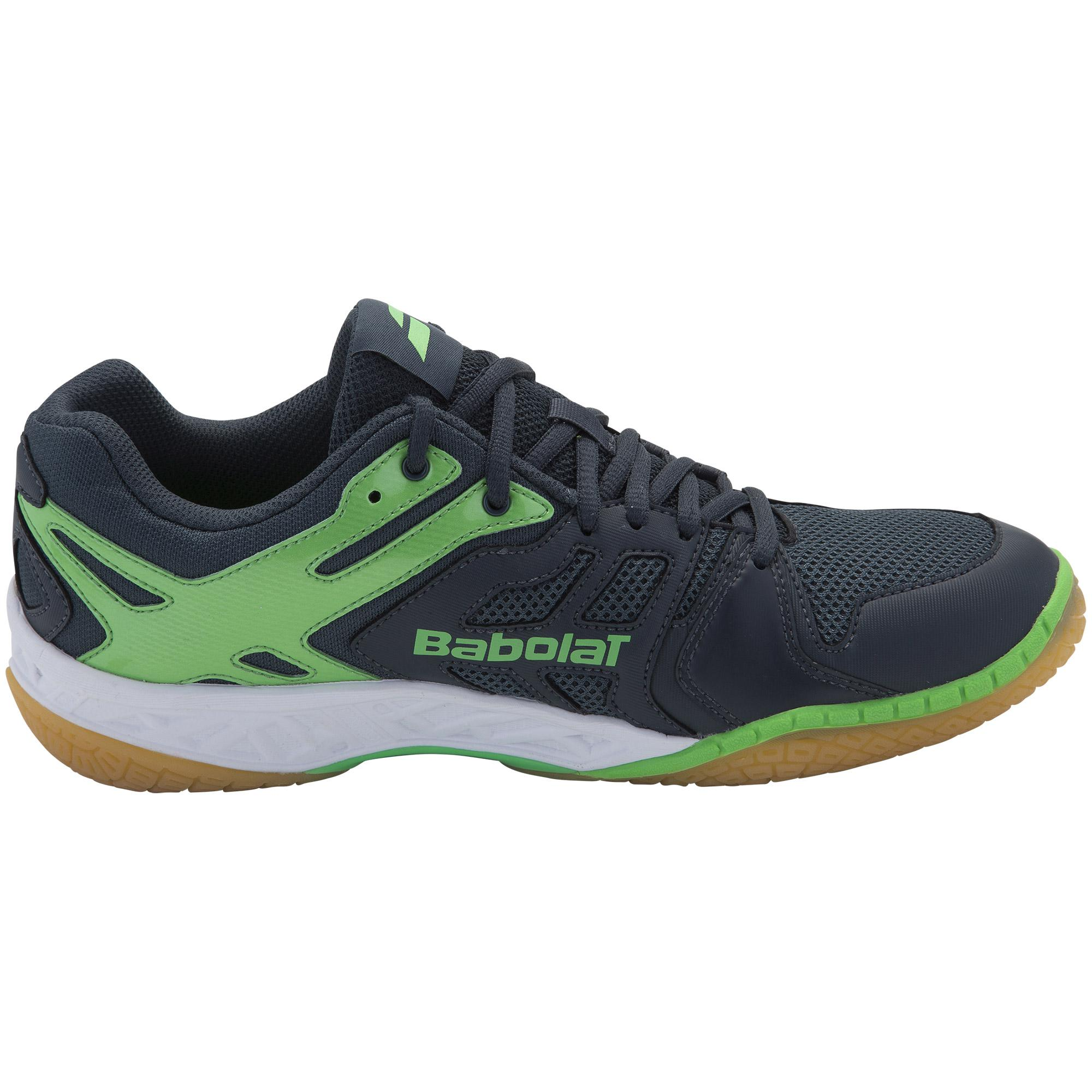 Babolat Tennis Shoes >> Babolat Mens Shadow Team Badminton Shoes - Green ...