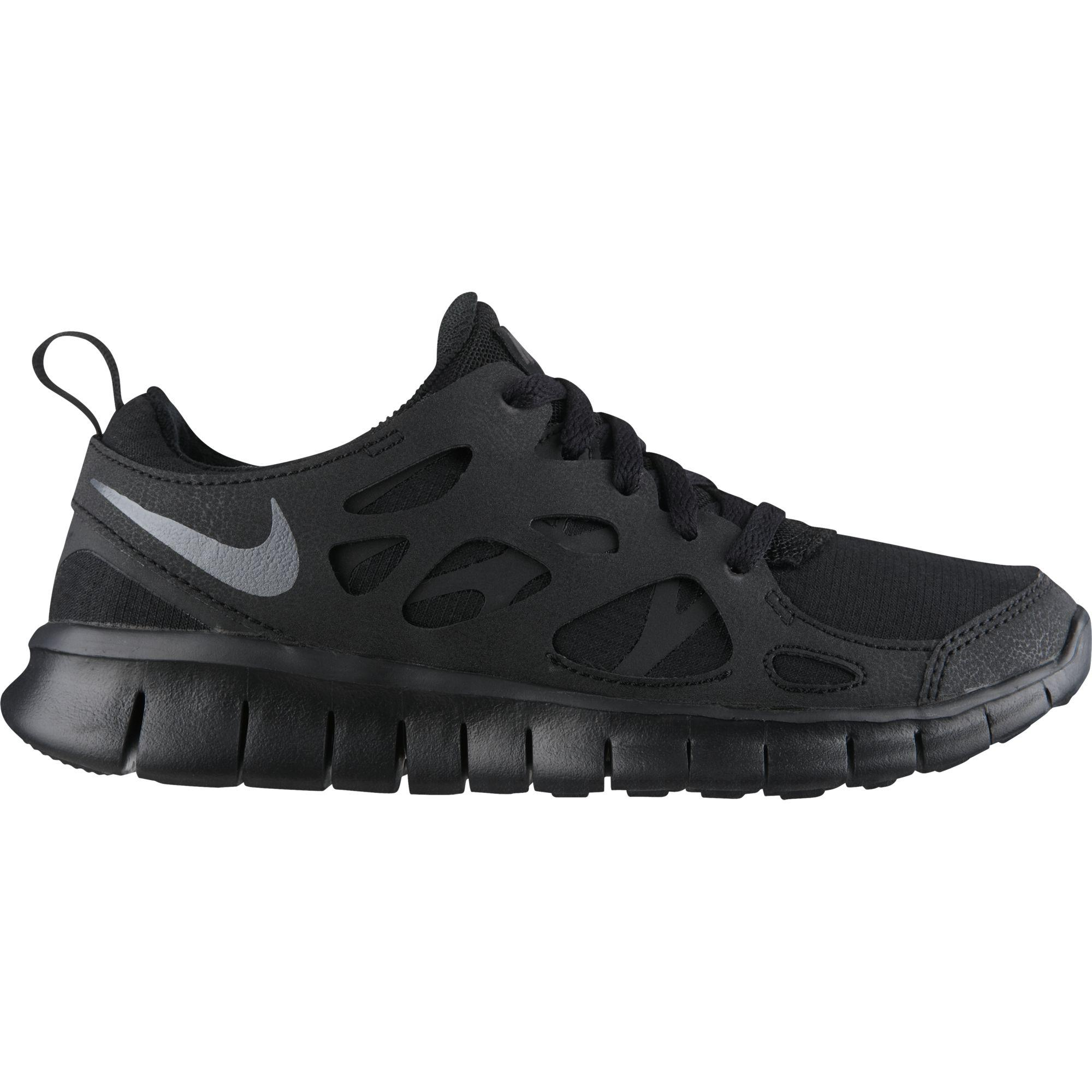 Nike Boys Free Run 2 Running Shoes - Black