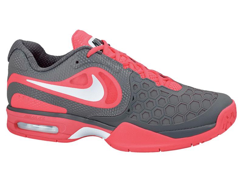 Hermano Normal Suministro  Nike Mens Air Max CourtBallistec 4.3 Tennis Shoes - Pink/Grey -  Tennisnuts.com