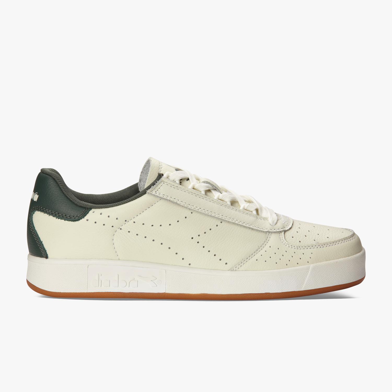 87b0229d73c Diadora Mens B.Elite Premium L Shoes - White/Jungle Green - Tennisnuts.com