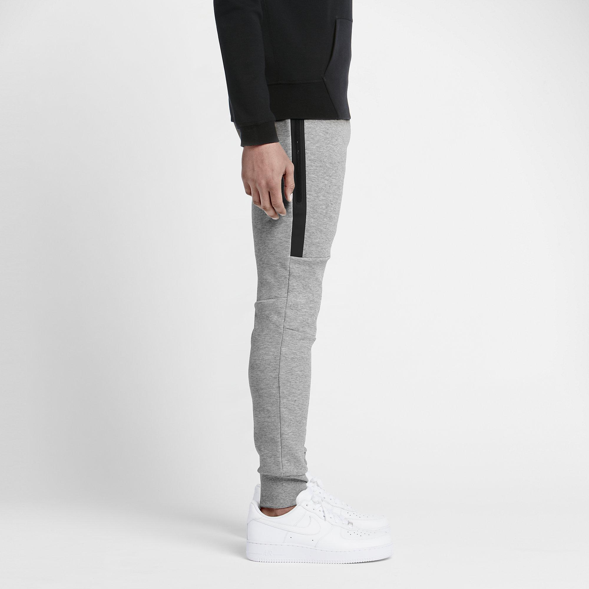 nike mens tech fleece pants dark grey heather black. Black Bedroom Furniture Sets. Home Design Ideas
