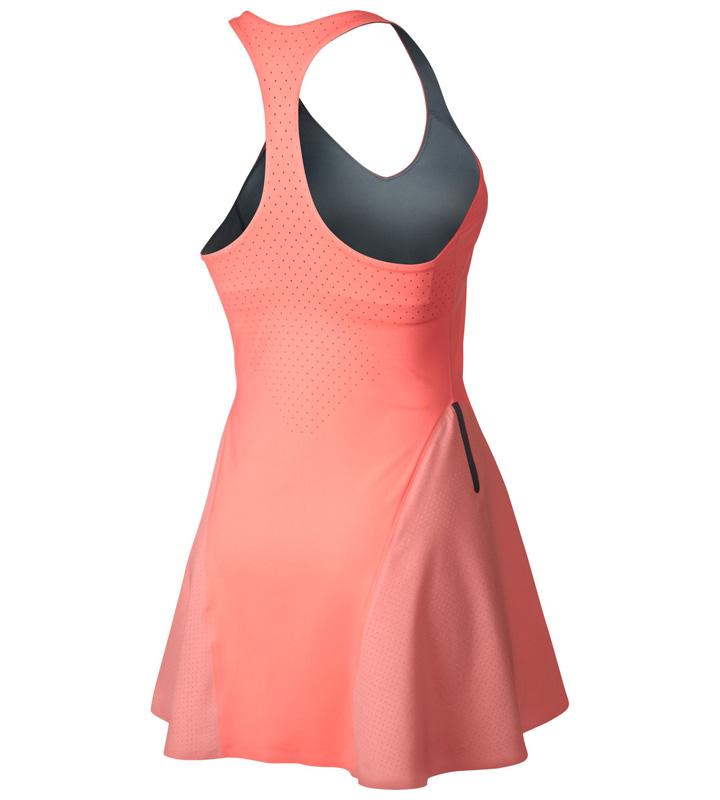 Atomic Pink Premier Maria Tennis Dress Nike Womens Premier Maria Dress - Atomic Pink/Armory Blue ...