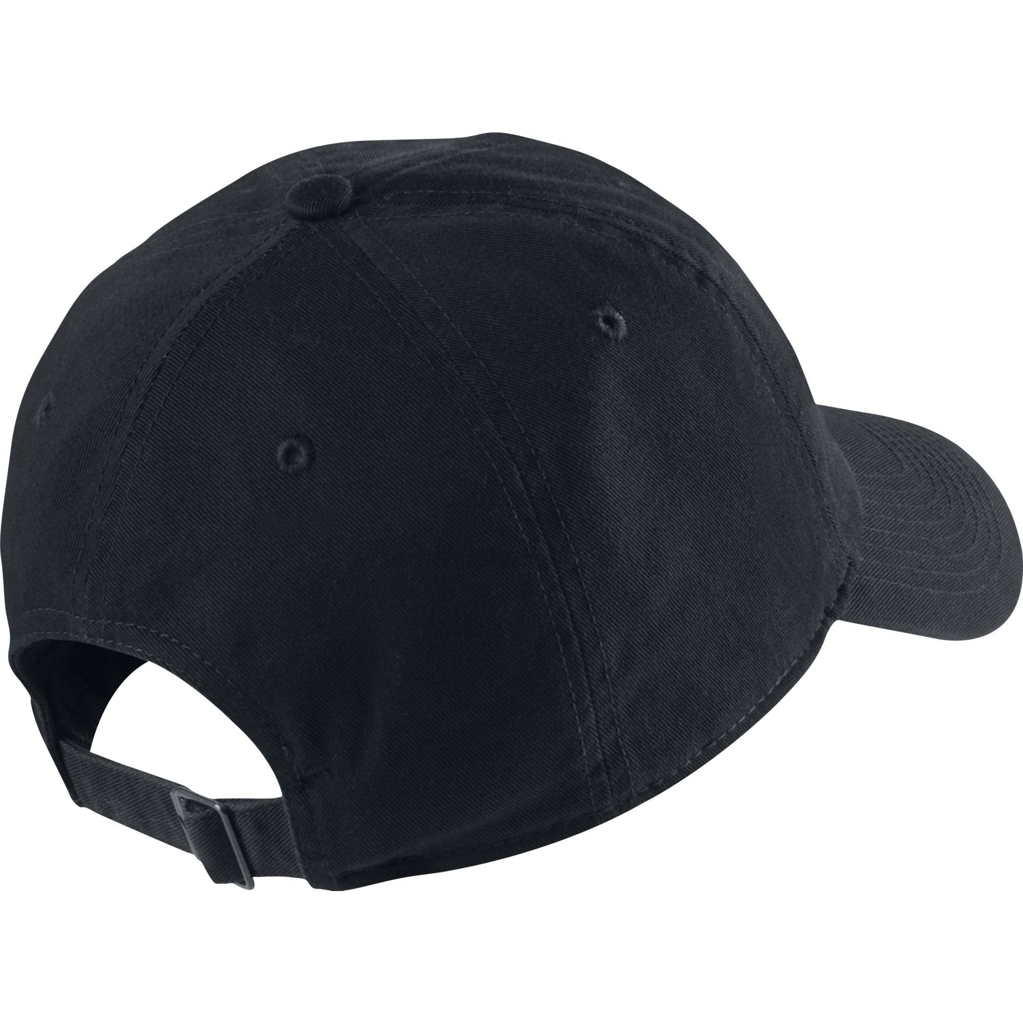 89b648423a0 Nike Swoosh H86 Adjustable Cap - Black White - Tennisnuts.com