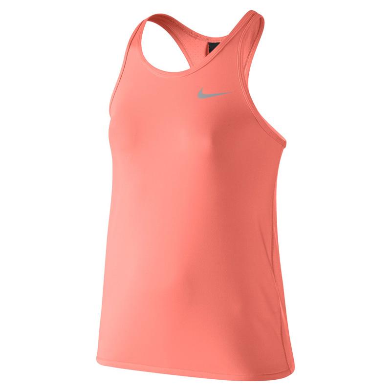Atomic Pink Premier Maria Tennis Dress Nike Girls Maria US Open Tank - Atomic Pink/Metallic Silver ...