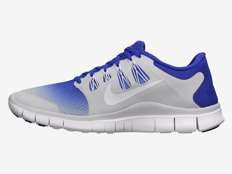 hot sale online b43eb 827dc Nike Mens Free 5.0+ Breathe Running Shoes - Hyper Blue White Platinum