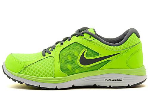 1e48370b74bd2c Nike Mens Dual Fusion Breathe Running Shoes - Volt Cool-Grey -  Tennisnuts.com