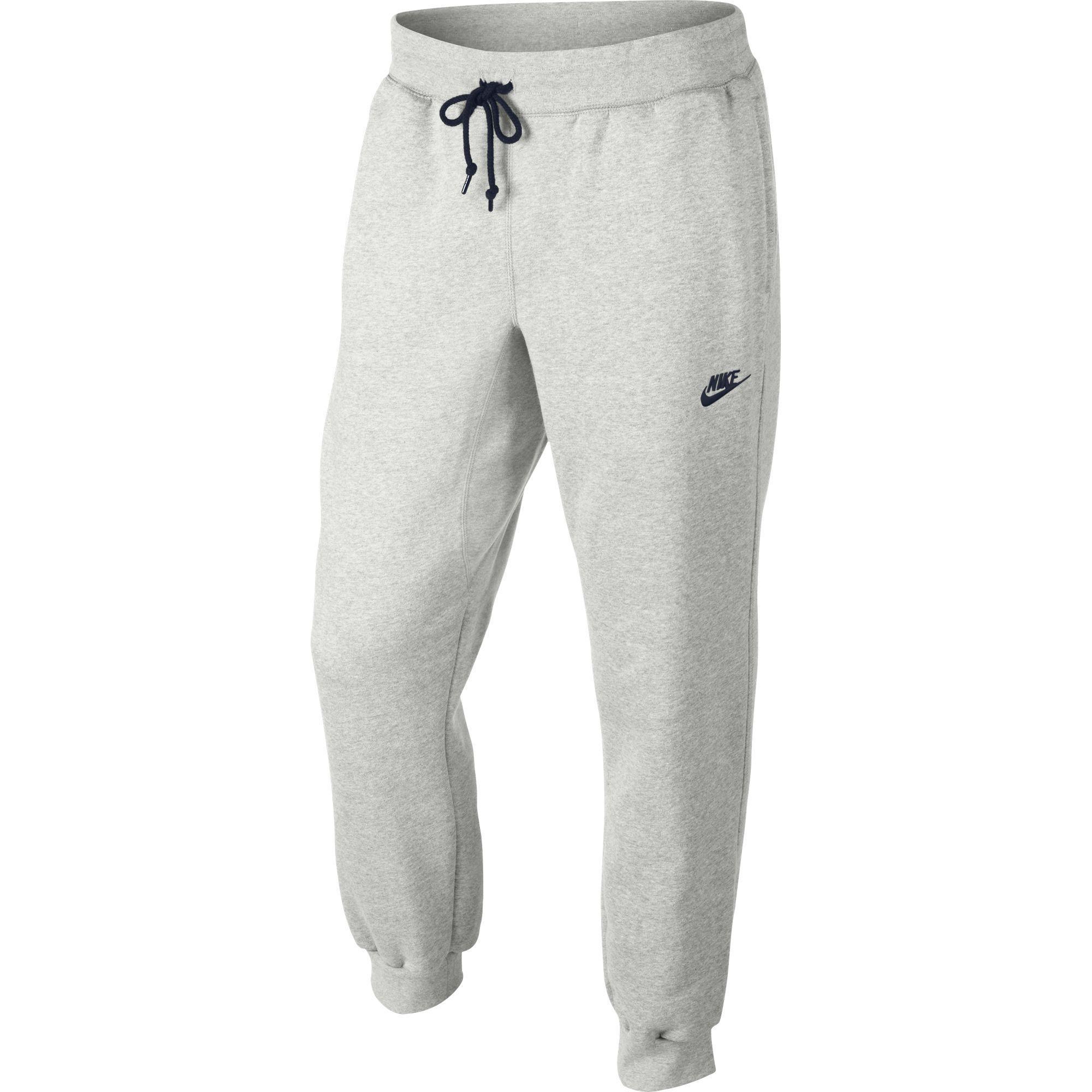 b942c9ac25 Nike Mens AW77 Cuffed Fleece Trousers - Birch Heather