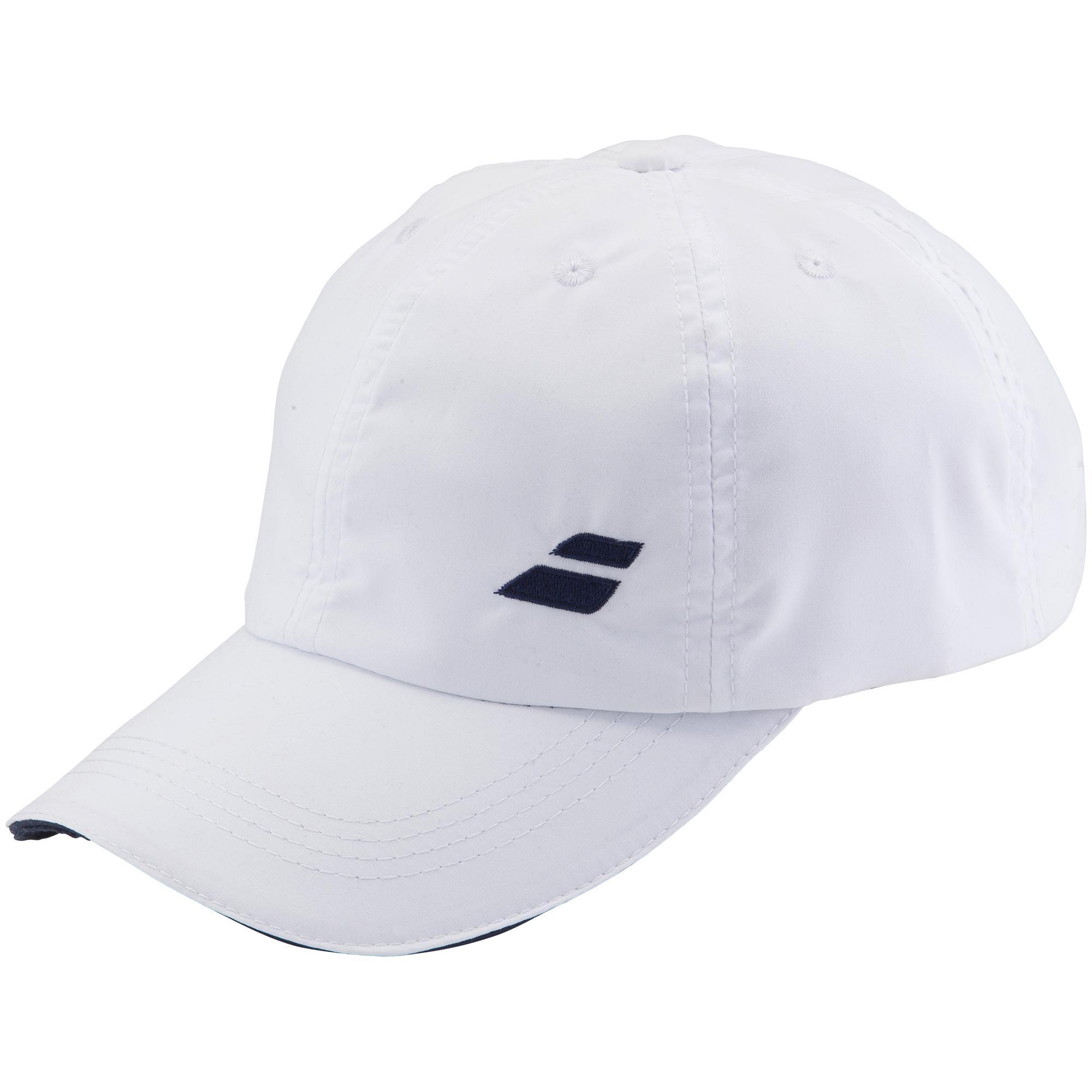 Babolat Adult Basic Logo Cap - White Navy Blue - Tennisnuts.com 041caac7907