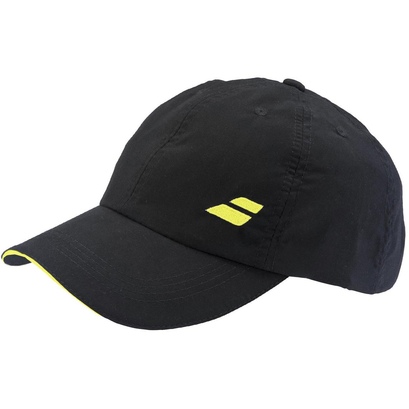 babolat adult basic logo cap 2018 blackyellow