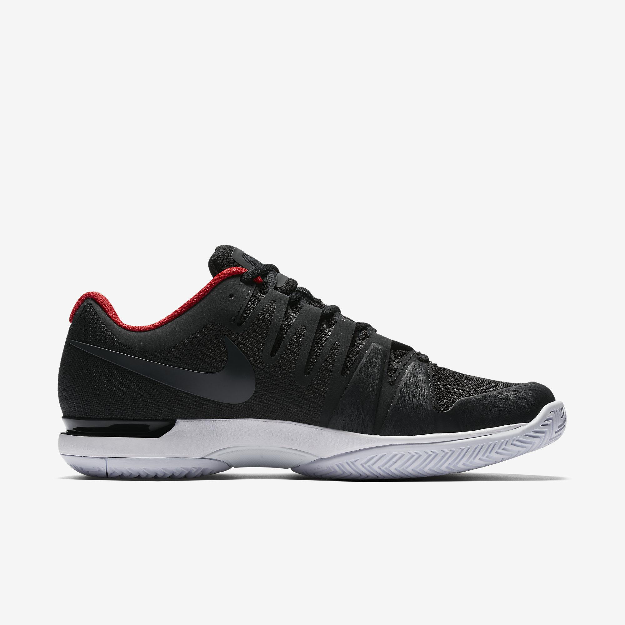 Nike Mens Zoom Vapor 9.5 Tour Tennis Shoes - Black/Red ...