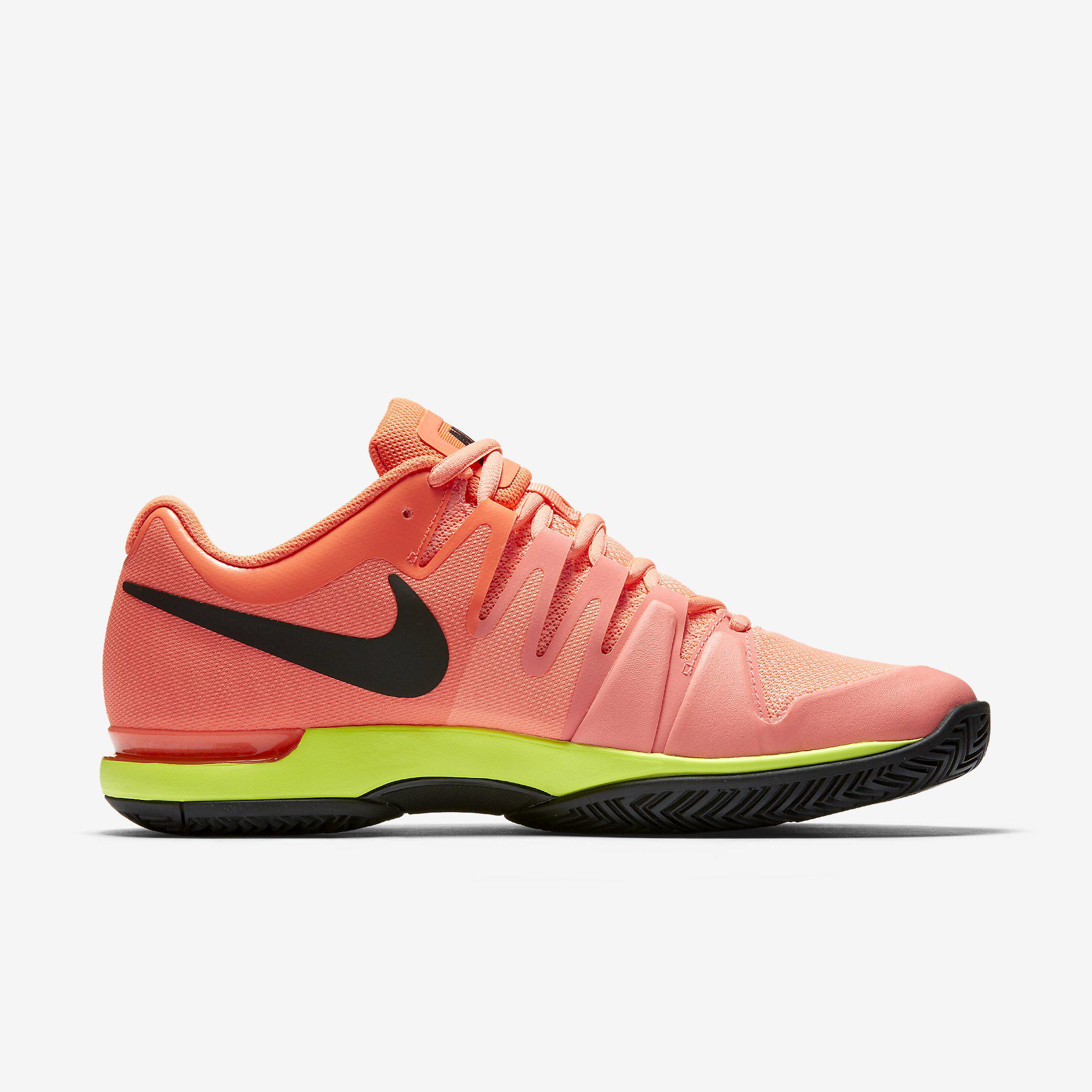666b710980c Nike Mens Zoom Vapor 9.5 Tour Tennis Shoes - Lava Glow Hyper Orange ...
