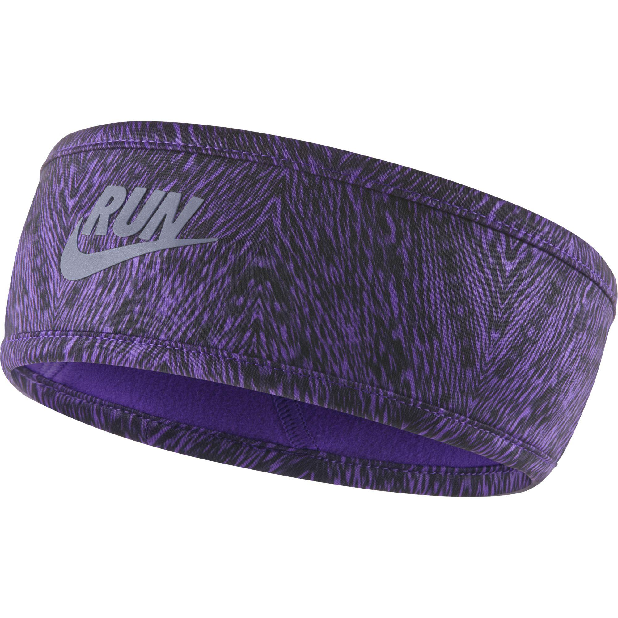 Nike Womens Run Cold-Weather Reversible Headband - Grape Reflective Silver f6731b05b80